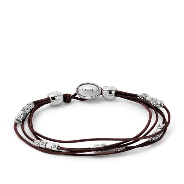 Multi-Strand Wrist Wrap - Chocolate