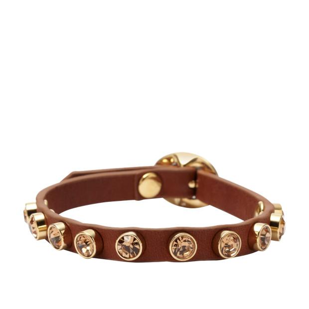 Glitz Stud Wrist Wrap - Brown