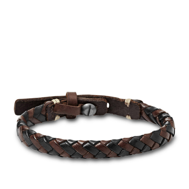 Braided Bracelet - Brown and Black