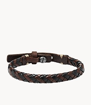 Braided Bracelet Brown and Black