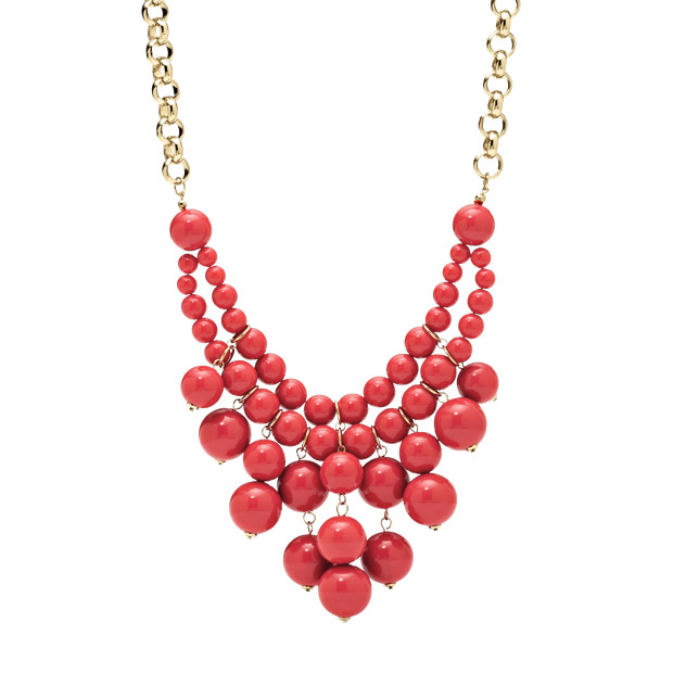 Bauble Necklace - Coral
