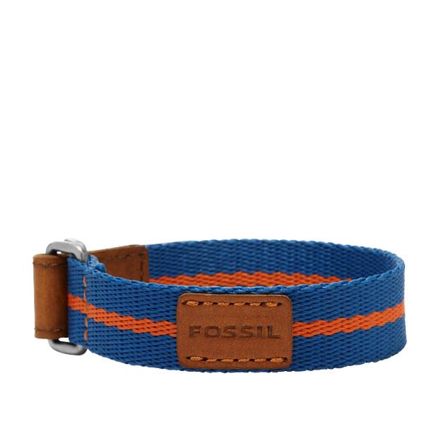 Textile Bracelet – Blue and Red