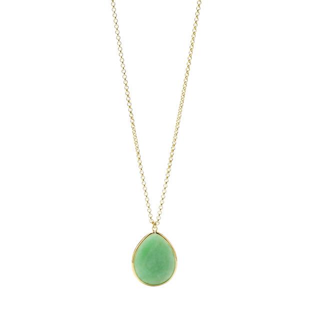 Stone Teardrop Pendant - Green