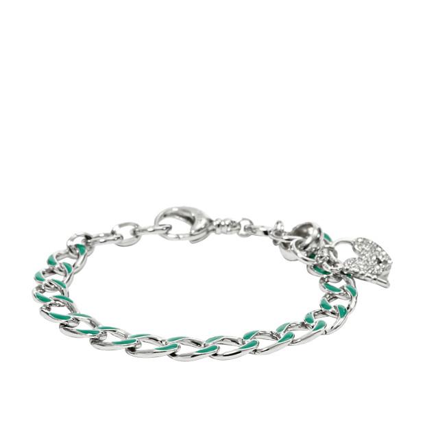Link Charm Starter Bracelet- Green