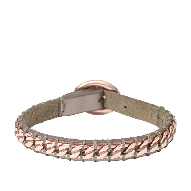 Chain on Leather Wrap