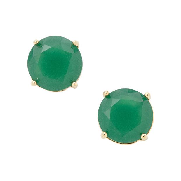 Glass Studs- Green