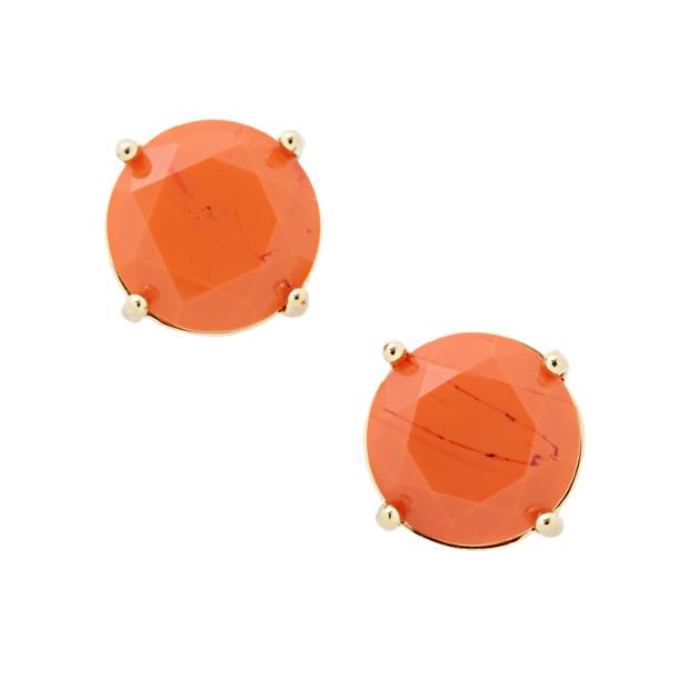 Glass Studs- Orange