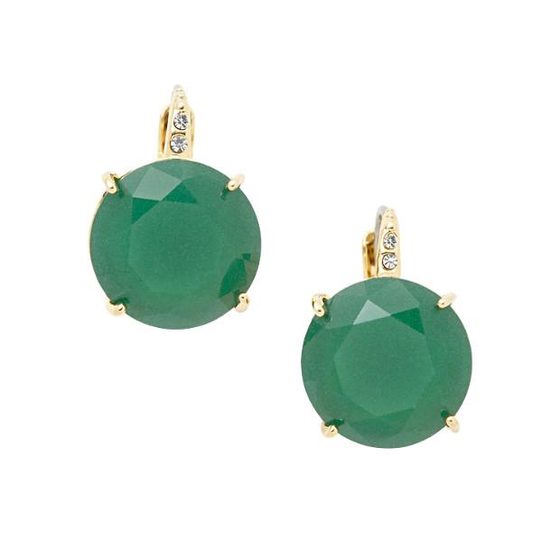 Glass Earrings- Green