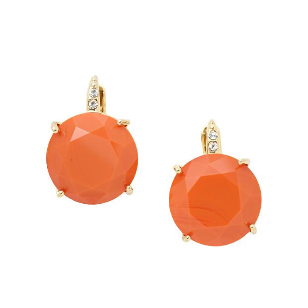 Glass Earrings- Orange