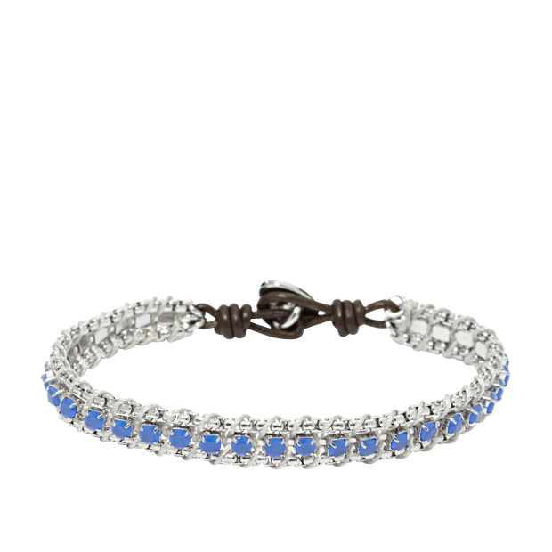 Chain Wrist Wrap- Blue