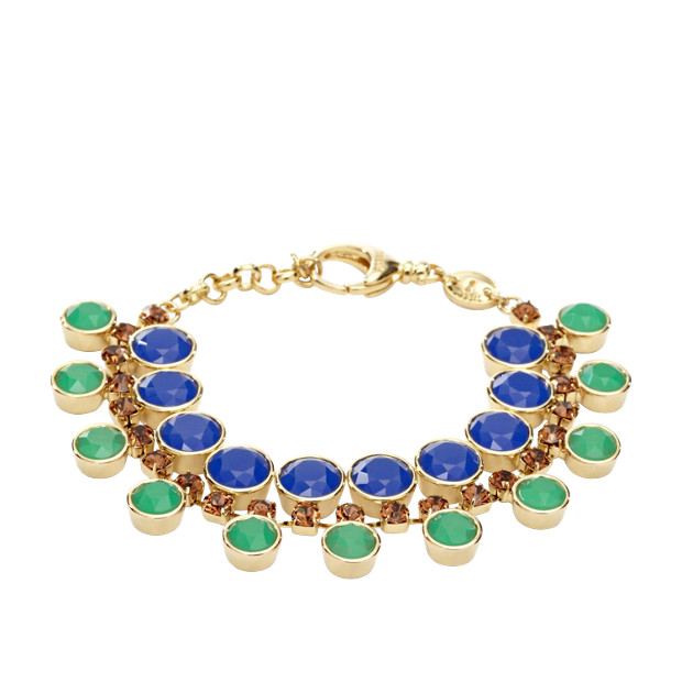 Dual Statement Bracelet- Blue and Green