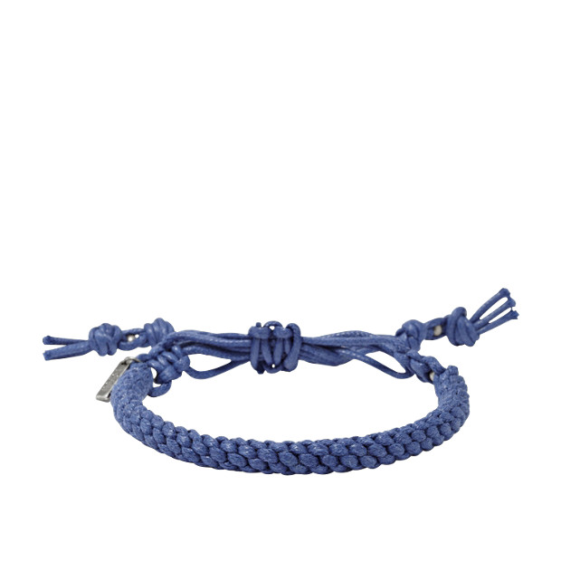 Braided Cord Bracelet- Blue