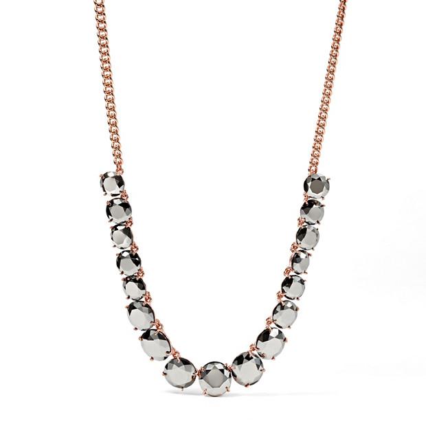 Hematite Glass Necklace