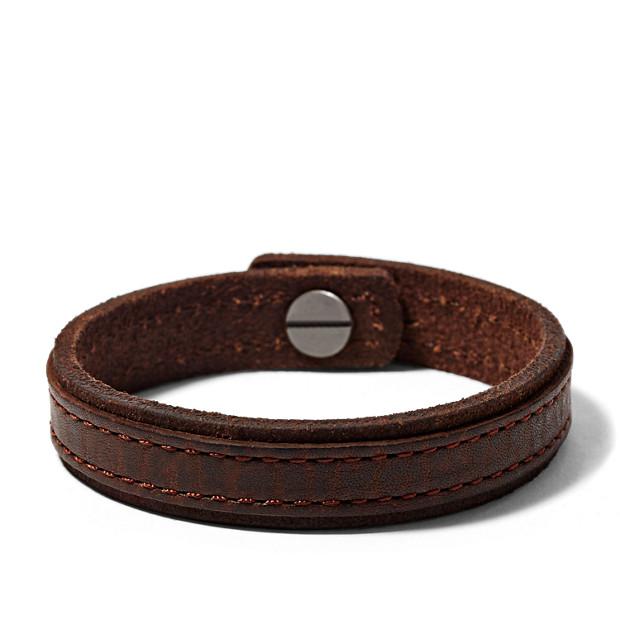 Leather Pin Bracelet