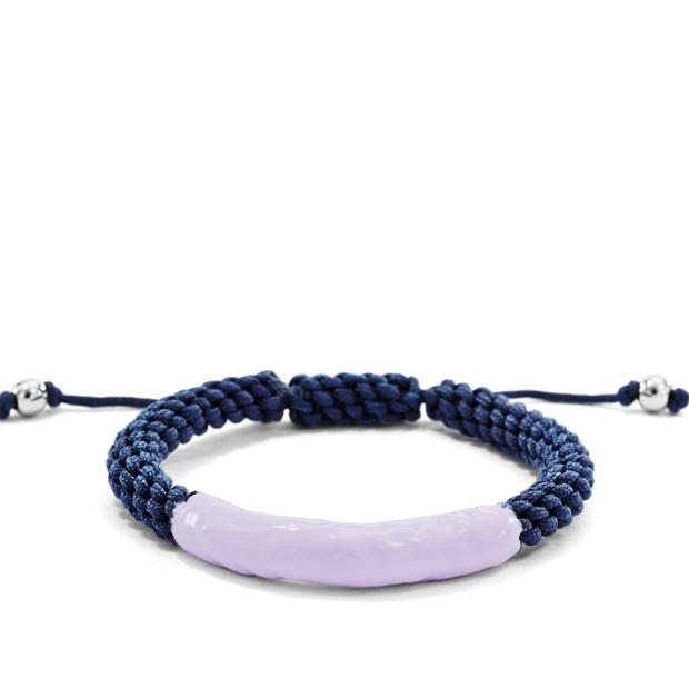 Enamel Dip Macramé Bracelet