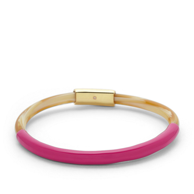 Skinny Enamel Bangle – Tort and Coral