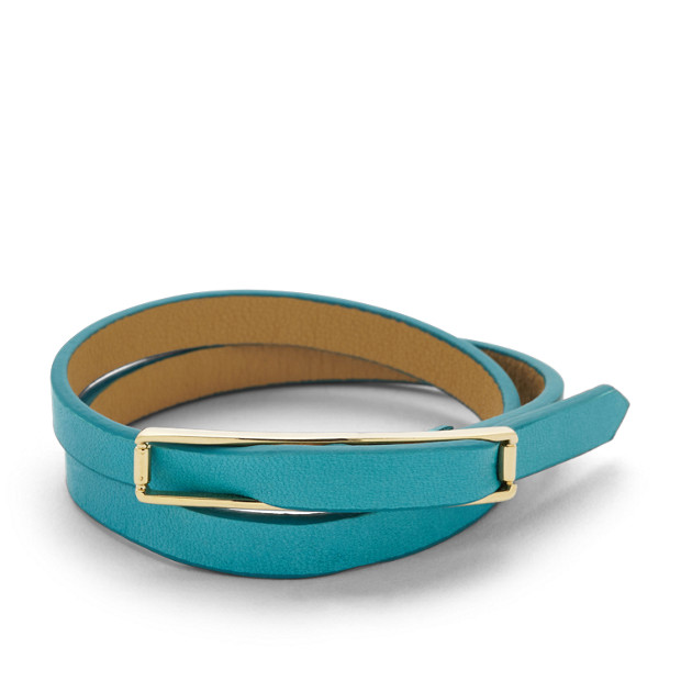 Double Buckle Wrist Wrap- Turquoise