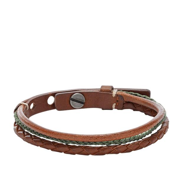 Multi-String Leather Bracelet