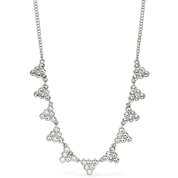 Stacked Crystal Statement Necklace