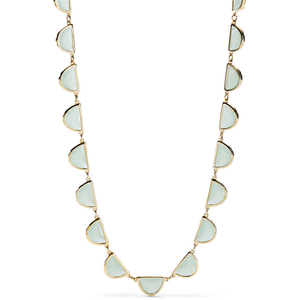 Half-Round Sea Glass Necklace
