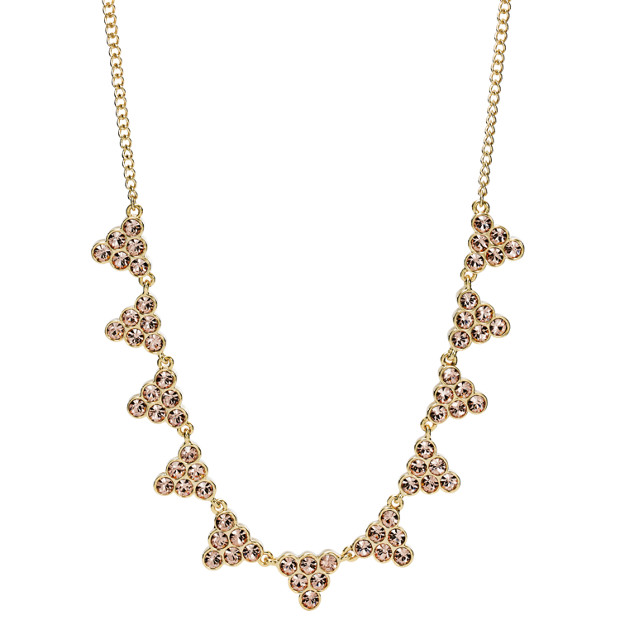 Damen Halskette - Stacked Crystal Statement