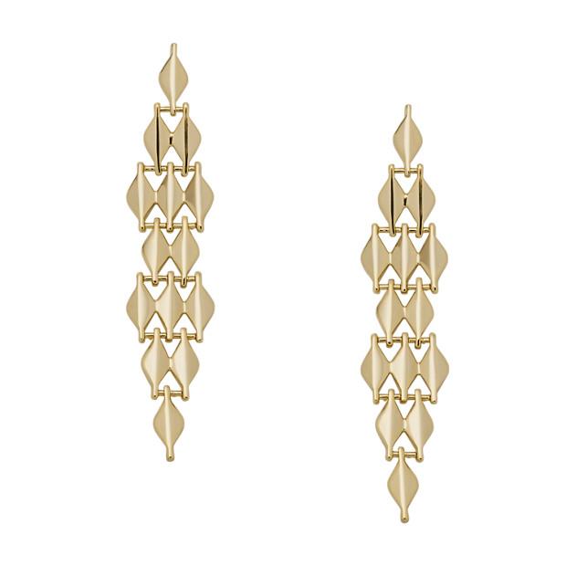 Damen Ohrstecker - Linear Diamond