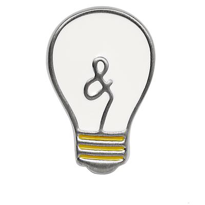 Vintage Casual Light Bulb Lapel Pin