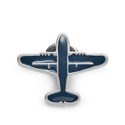Vintage Casual Airplane Lapel Pin