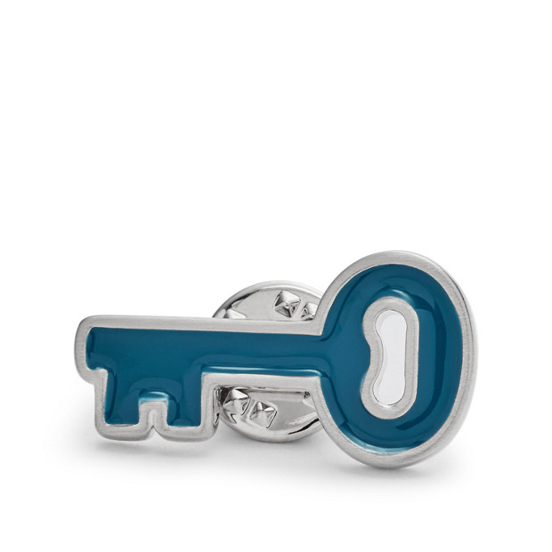 Vintage Casual Key Lapel Pin