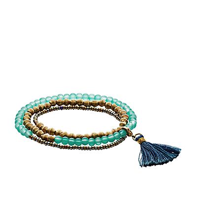 Fossil x Me to We Three-Piece Beaded Bracelet