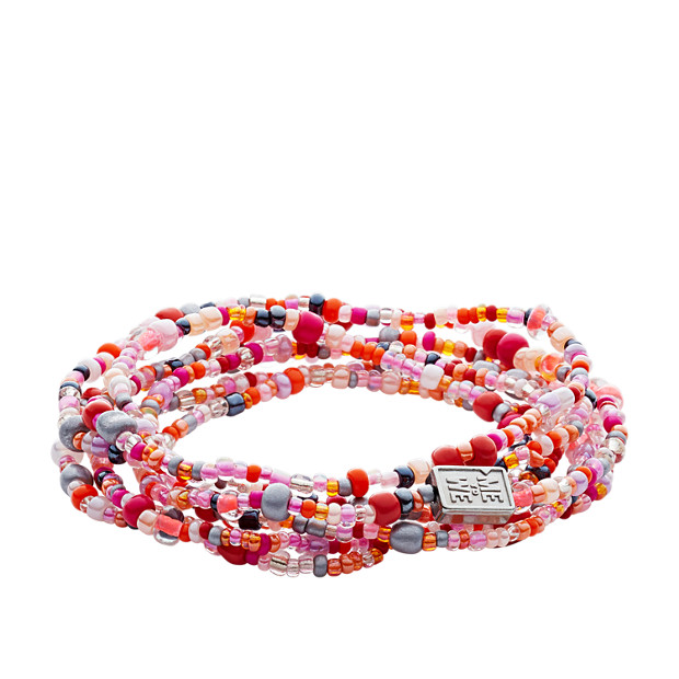 Fossil x Me to We Rafiki Health Beaded Bracelet