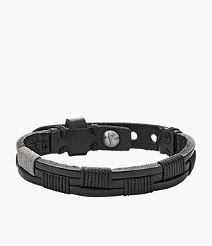 Herren Armband Vintage Casual Black Leather