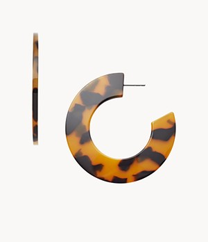 Damen Ohrringe Tortoise Acetate Hoops