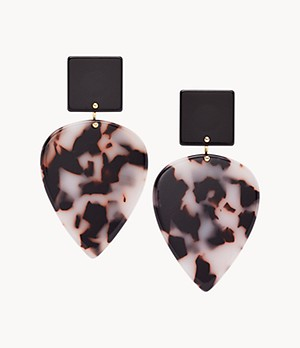 Teardrop Snow Leopard Earrings