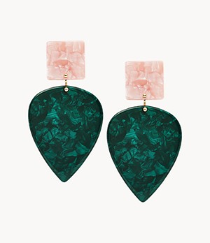 Teardrop Hunter Green Earrings