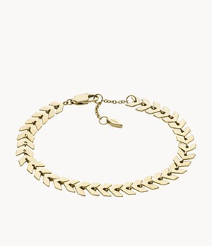 Gold-Tone Brass Chain Bracelet