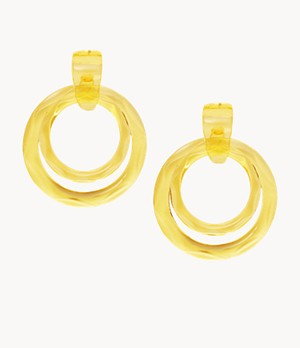 Jelly Pops Citrus Resin Hoop Earrings