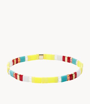 Festival Multi-Colored Bright Yellow Beaded Bracelet