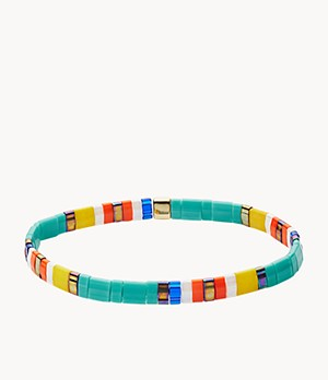 Festival Multi-Colored Teal Beaded Bracelet