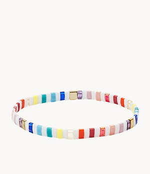 Festival Multi-Colored Rainbow Beaded Bracelet