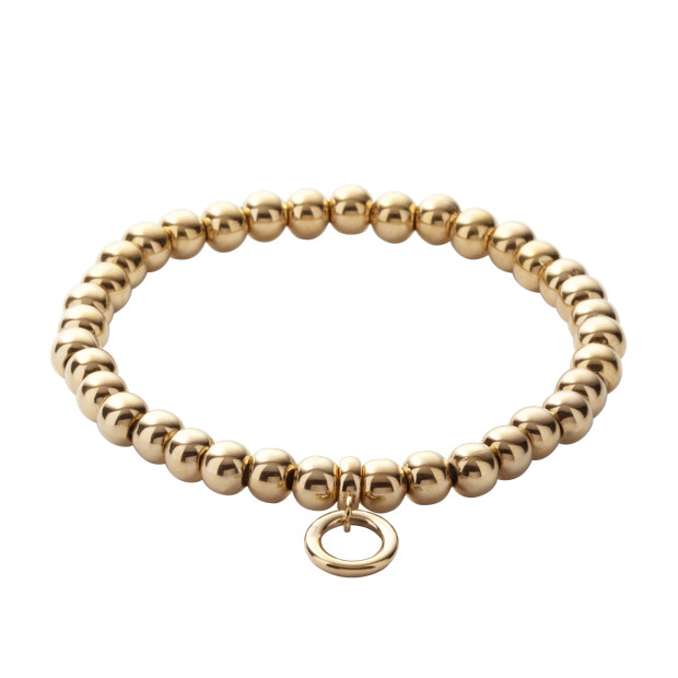 Stainless Steel Charm Bracelet – Gold-Tone