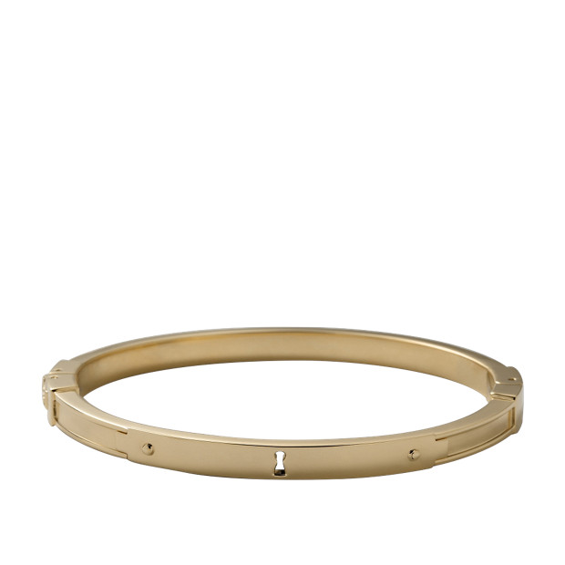Keyhole Bangle – Gold-Tone