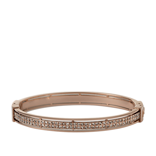 Bracelet rigide Glitz rose