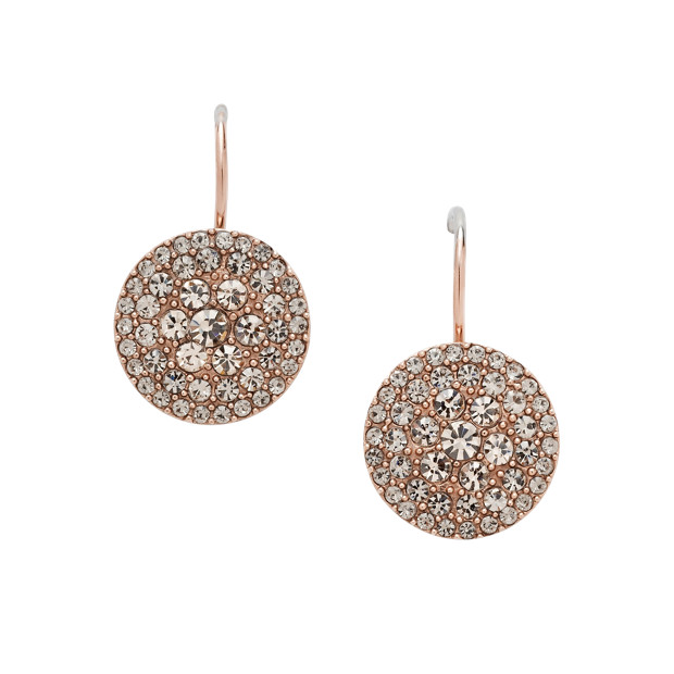 Glitz Disc Earring - Rose