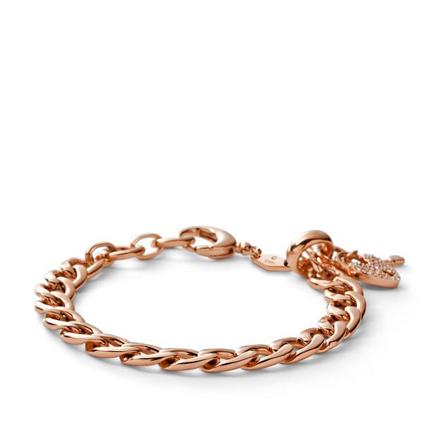 Link Charm Bracelet - Rose