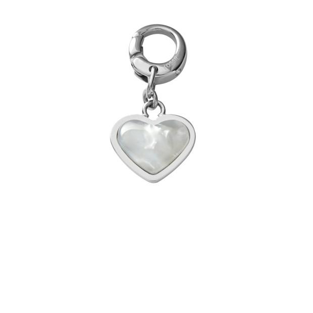 Heart Charm - White