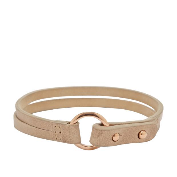 Double Wrap  Bracelet - Nude