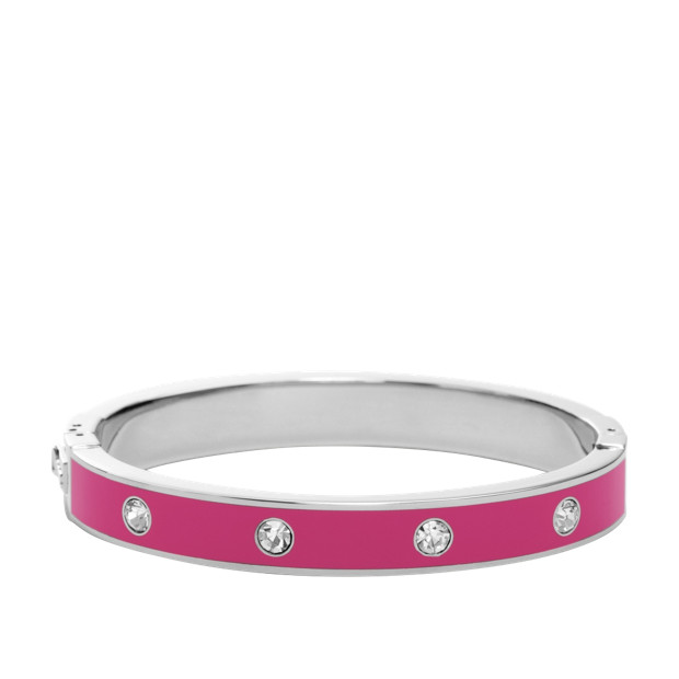 Glitz Enamel Bangle - Pink