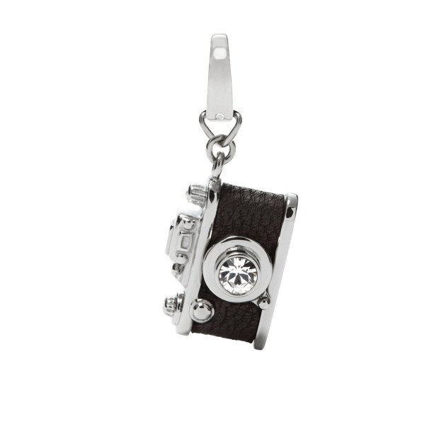 camera charm black fossil. Black Bedroom Furniture Sets. Home Design Ideas