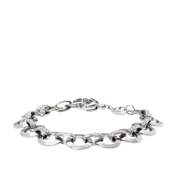 Glitz Charm Starter Bracelet Silver